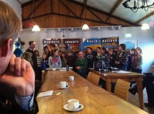 Uitvoering 'Met de klas de boer op' aftrap Noord-Holland