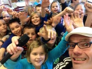 Selfie Rap in de Engelse les